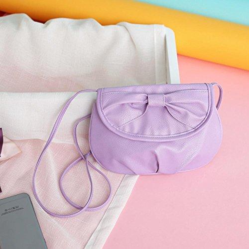 """Fulltime (TM) mujeres bolso bolsa de hombro Cruz Cuerpo bolsos Tote señoras del monedero, Infantil mujer, azul, 23*16cm/9.1*6.3"""" morado"""
