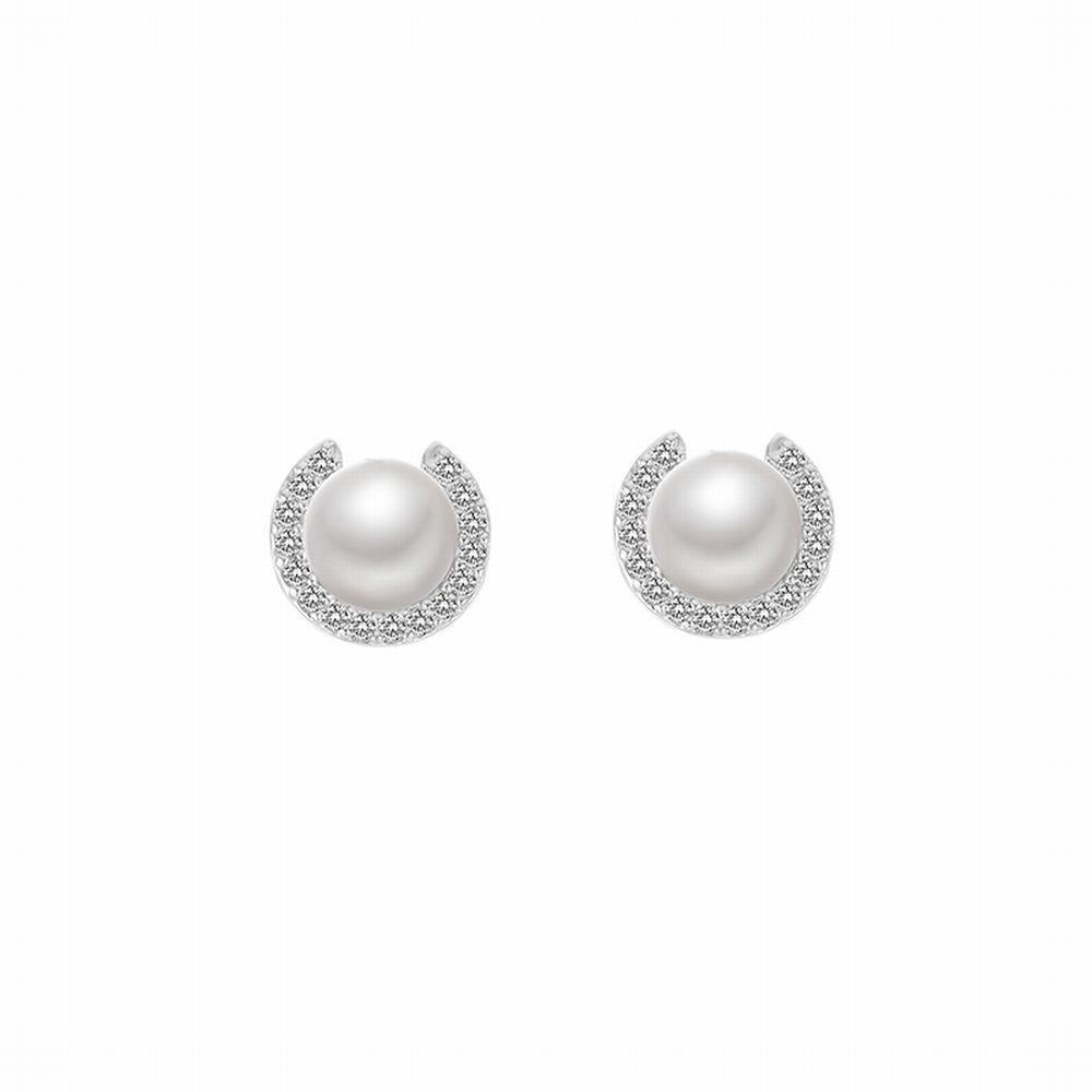 Ling Studs Earrings Hypoallergenic Cartilage Ear Piercing C-shaped earrings simple pearl earrings short hair earrings