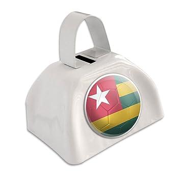 Bandera de Togo balón de fútbol Futbol fútbol blanco cencerro ...