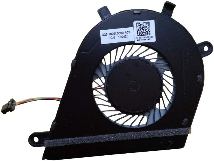 Z-one Fan Replacement for Dell Inspiron 13-7373 Series CPU Cooling Fan DPN:DJFK0 0DJFK0 4-Wire 4-pin