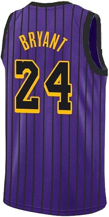 A-lee - Camiseta de baloncesto para hombre - Número 24 de Kobe Bryant - Camiseta de manga corta