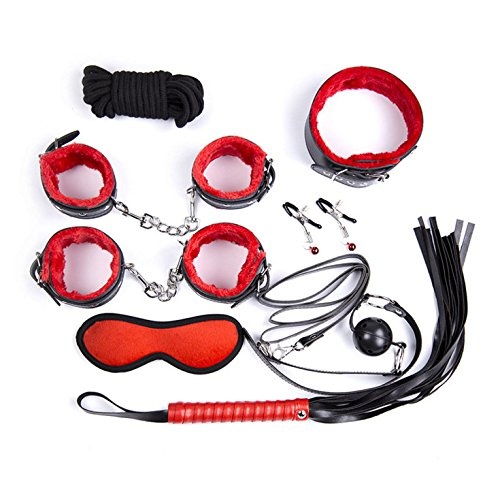 Wrist Cuffs Restraints (8-in-1 Restraint Kit, Lubar Wrist Ankle Handcuffs Cuffs Sets)