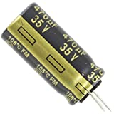 4 Pieces of 470uF,35V (10x20mm) Panasonic Electrolytic Capacitor,Operating Temp -55°C ~ 105°C ,Lifetime @ Temp. 2000 Hrs