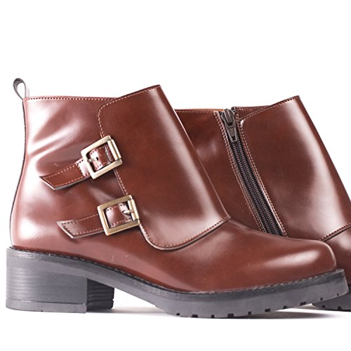 Women's Vegan NAE Tessa Boots Brown FYqZpS