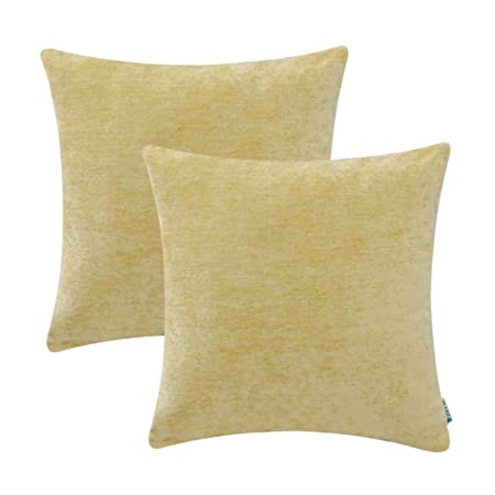 HWY 40 Pack Of 40 Polyester Comfortable Cashmere Throw Pillows Covers Cool Yellow Decorative Bed Pillows