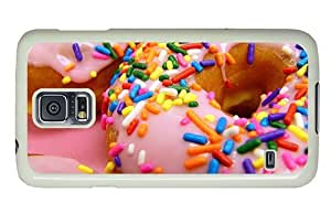 Hipster Samsung Galaxy S5 Cases sparkly donuts PC White for Samsung S5