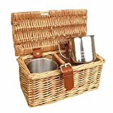 2 Person Mug Tea Coffee Drinks Basket
