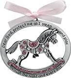 Cathedral Art CM15P Pink Horse Crib Medal for Jewelry Making, 2-1/2 by 2-Inch