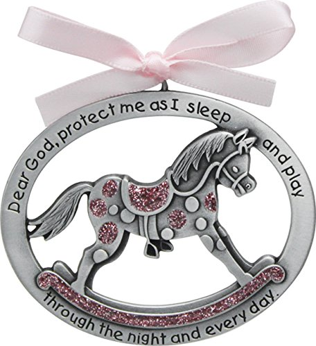 Cathedral Art CM15P Pink Horse Crib Medal for Jewelry Making, 2-1/2 by 2-Inch]()