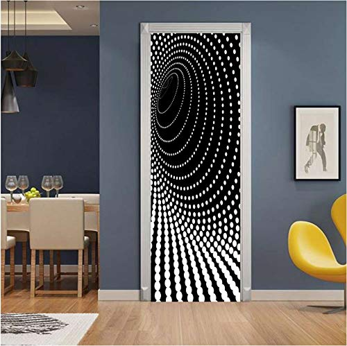 xilinglin Creative 3D Dazzle Point Door Sticker DIY Home Decor Decals Self Adhesive Wallpaper Waterproof Mural for Bedroom Door Renovation