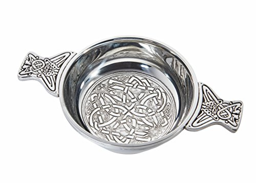 Wentworth Pewter - Celtic Circle Pewter Quaich Whisky Tasting Bowl Loving Cup Burns ()