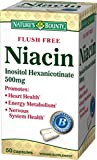 Nature's Bounty Niacin 500 mg Capsules Flush Free 50 ea (Pack of 9)
