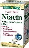 Nature's Bounty Niacin 500 mg Capsules Flush Free 50 ea (Pack of 9)
