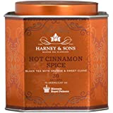 Harney & Sons Hot Cinnamon Spice Tea Tin - Black Tea with Orange & Sweet Clove - 2.67 Ounces, 30 Sachets