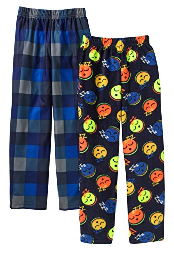 Boys Fleece Pajama Pants (Faded Glory Boys Micro Fleece 2 Pack Pajama Pants (X-Large 14/16, Blue))