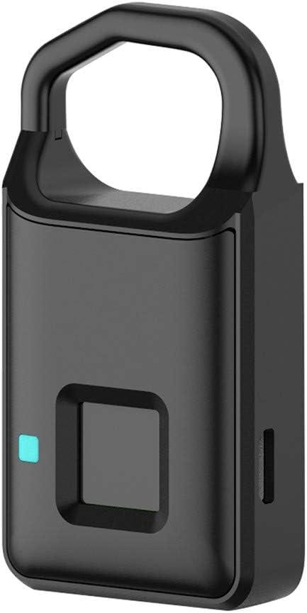 antivol Cadenas intelligent avec empreintes digitales sans cl/é pour porte de bagage avec chargement USB /étanche