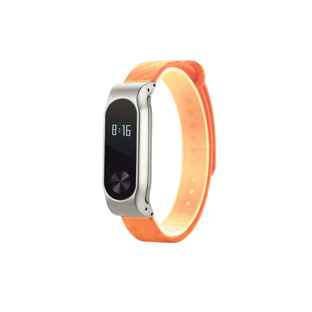Bestow Xiaomi Mi Band 2 Fashion TPE Carbon Design Correa del Deporte Correa de Pulsera de reemplazo Otros Relojes de Pulsera de aparatos ...