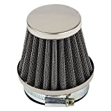 54mm air filter - HIFROM(TM) 54mm Motorcycle ATV Oval Metallic Clamp-on Refit Intake Funnel Air Filter Silver Wholesale & Retail