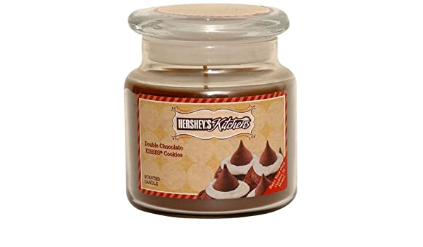 Hersheys por Hanna vela 16-onza de besos doble Chocolate galletas vela: Amazon.es: Hogar