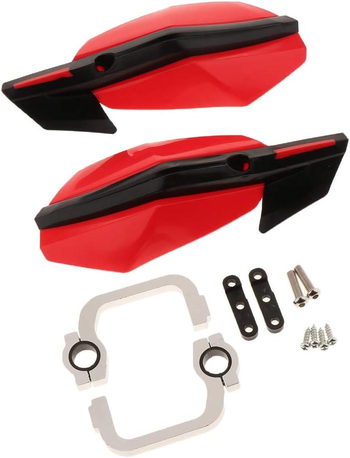 rojo Paramanos Guanteletes Protector de Mano Ordinario de Aluminio Adecuado para Motos ATV de 22mm a 28mm