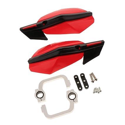 Guardamanos para Moto rojo 1 par Paramanos al Manillar Universal Aleaci/ón de Aluminio