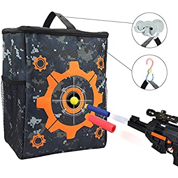 Target Pouch Storage Carry Equipment Bag with 2PCS Hooks for Nerf N-strike Elite / Mega / Rival Series