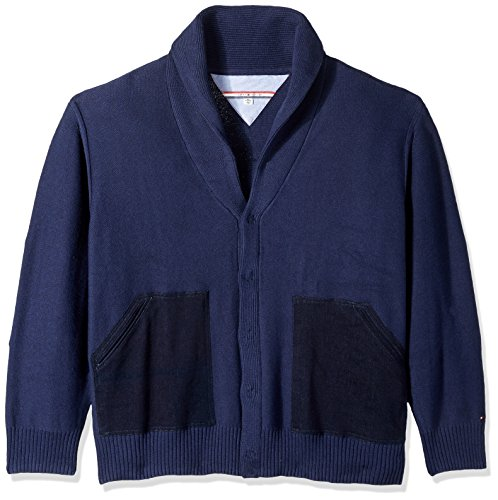 Tommy Hilfiger Men's Tall Smith Shawl Cardigan, Navy Blaz...