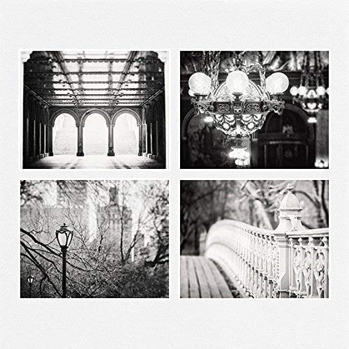 Modern Black and White Print or Matted Print Set of 4 New York City Photographs. Industrial Decor, Architecture Pictures. 5x7, 8x10, 11x14 or 16x20.