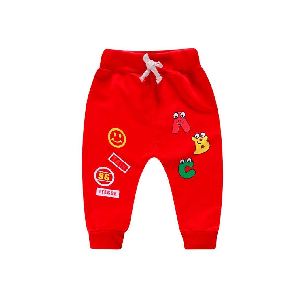 Hanyixue Niña Niño Carta de Dibujos Animados Impresos Pantalones ...