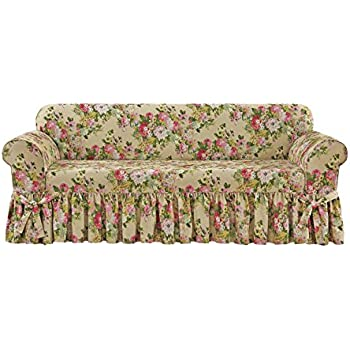 amazon com sure fit juliet by waverly one piece sofa slipcover rh amazon com Waverly Floral Slipcovers Sure Fit Waverly