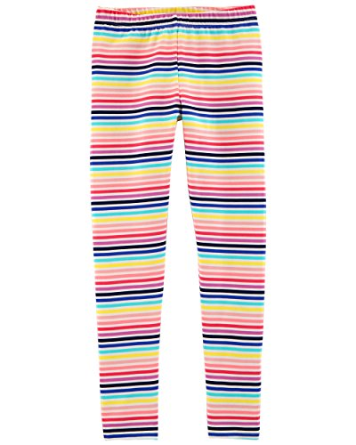 Osh Kosh Girls' Toddler Full Length Legging, Multi Stripe, - Pant Stripe Girls