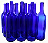 empty bottles with cork - Midwest Homebrewing and Winemaking Supplies B01HDY9XRG FBA_Does Not Apply 750 ml Cobalt Glass Claret/Bordeaux Bottles, 12 Per Case, Blue