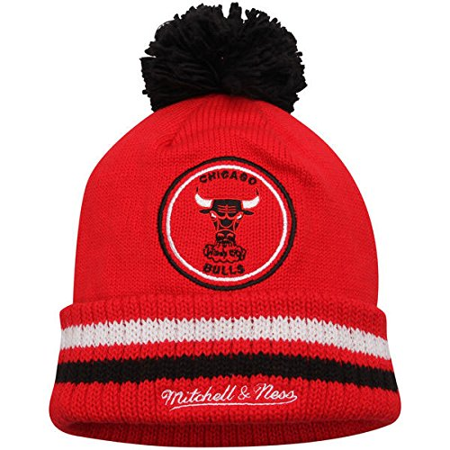 b95d08c79b9 Chicago Bulls Pom Hat. NBA Mitchell and Ness ...