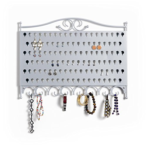 Mango Steam Slim Profile Wall-Mounted Jewelry & Earring Organizer (Post Earring Holder)