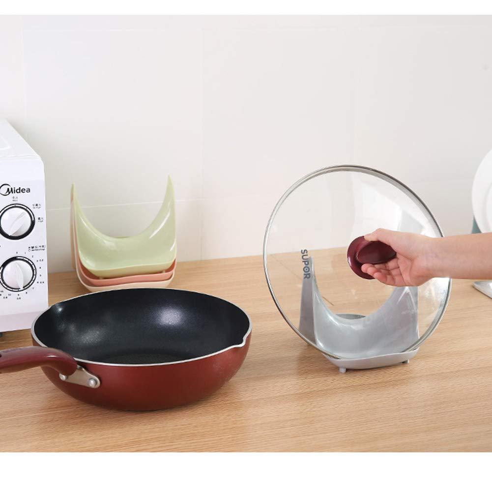Beige Romote 1 Pc Pot Lid Holder Pan Lid Organizer Pot Lid Rack Kitchen Supply Storage Rack Kitchen Accessories for Pot Lids