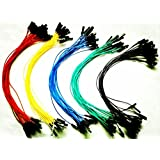 SUNKEE 100pcs 1p to 1p female to female jumper wire Dupont cable 20cm