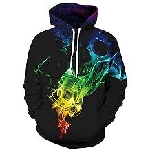Athletic 3D Animal Galaxy Print Hoodie Sweatshirt