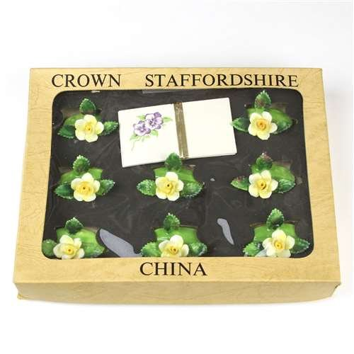 Place Card Holders by Crown Staffordshire, China, Set of 8
