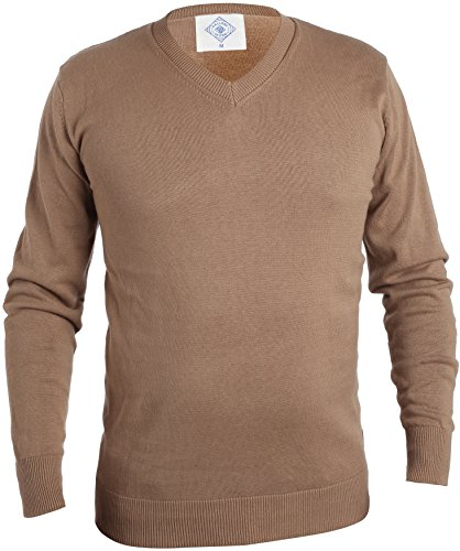 Gallery Seven V Neck Sweater For Men - Cotton Lightweight Mens Pullover by Gallery Seven (Image #1)