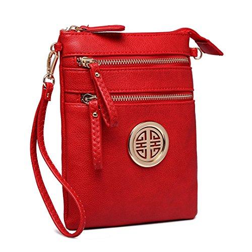 pour Lulu 1417 bandoulière femme Miss Sac Red WtwaPP6