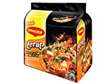 Maggi Letup Goreng Kari Berasap/Springy Dry Noodles With Fiery Red Dried Chilies & Real Curry Spices/Tongue Numbing Spiciness/Intensely Insanely Hot To The Last Strand/Flare Up Your Tastebuds/10 x110g