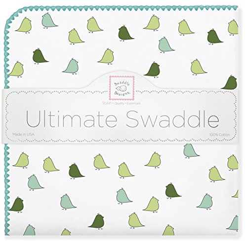 SwaddleDesigns Ultimate Swaddle Turquoise Chickies