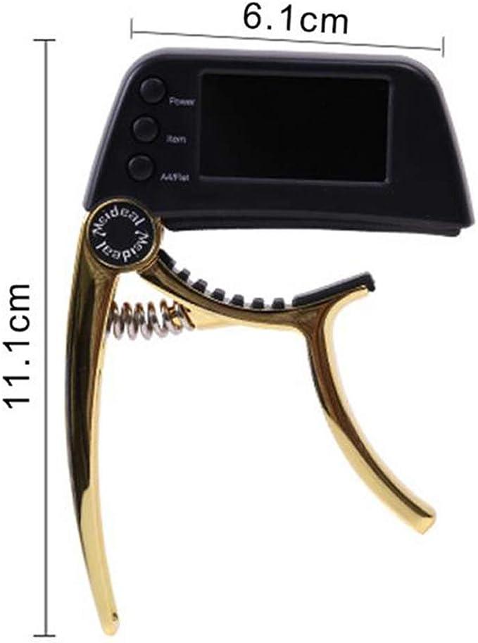 accordeur tr/ès pr/écis et Facile /à Utiliser Convient pour Guitare//Basse//Violon//ukul/él/é Grand /écran LCD color/é et Clair Kilcvt Accordeur de Guitare Acoustique