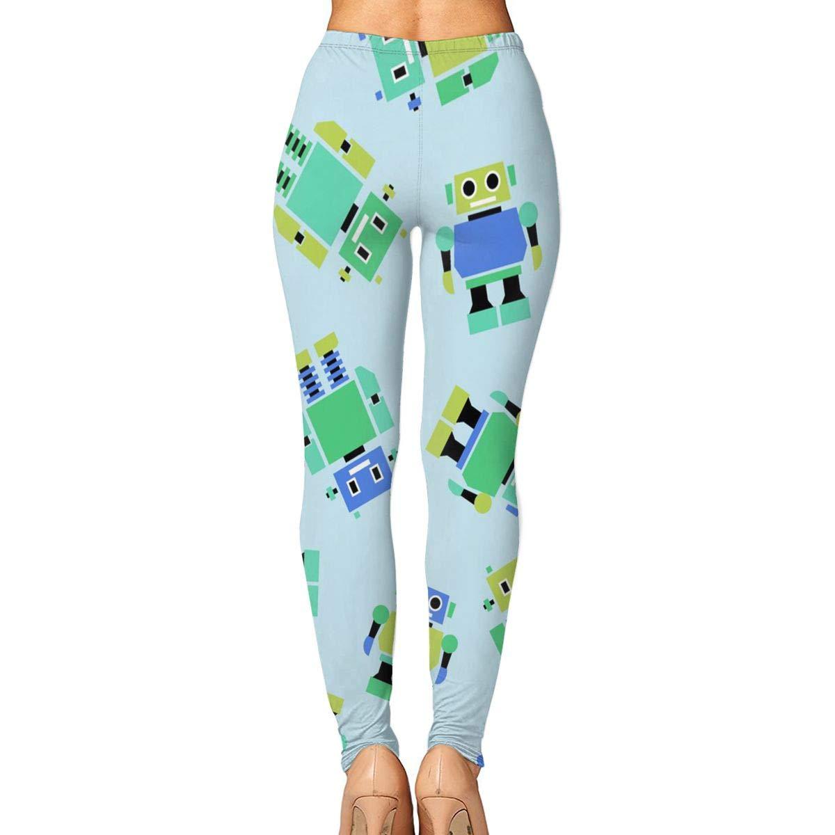 7cc7b6253f8a3 Amazon.com : KUAAAKE Yoga Pants Lovely Robot Holiday Womens Fitness Power  Flex Yoga Pants Leggings : Sports & Outdoors