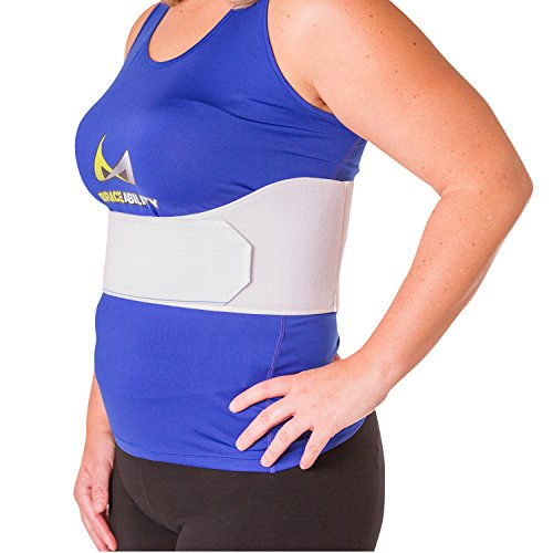 BraceAbility Rib Injury Binder Belt | Women's Rib Cage Protector Wrap for Sore or Bruised Ribs Support, Sternum Injuries, Pulled Muscle Pain and Strain Treatment (Female - Fits 34