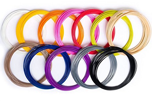 3D-Printing-Pen-Filament-Refills-175mm-Plastic-ABS-12-Pack-384-Linear-Feet-32-Foot-Each-of-Vibrant-Color-for-Pens-and-Printers-by-Dealz-Plus-More-BONUS-175-Stencils-FREE-E-Book