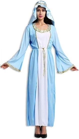 EVRYLON Costume Vergine Maria Madonna Donna Vestito Carnevale Sexy
