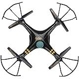 Gptoys F2 Aviax - Quadcopter Drone Falcon RC Cuadricóptero 3D ( 720P Cámara HD, Modo sin Cabeza, 360 Grados, 4CH 6 Axis 2.4GHz, 720P Cámara HD, Transmisor LCD) - Negro