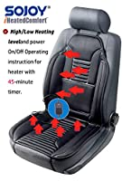 SOJOY Universal 12V Heated Car Seat Heater Heated Cushion Warmer High/Low/Temp Switch, Timer
