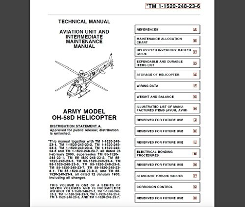 U.S. Army Bell 206 OH-58D Kiowa AVIATION UNIT AND INTERMEDIATE MAINTENANCE MANUAL - ALLOCATION CHART; WIRING; ELECTRICAL BONDING; CORRISION CONTROL: TM 1--1520--248--23--6  Change 2 - 15 June 2002
